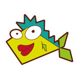Cute fish comic character. Vector illustration design Royalty Free Stock Photos
