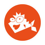 Cute fish comic character. Vector illustration design Royalty Free Stock Image