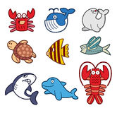 Cute Fish Element Stock Images