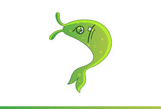 Cute Fish Emoji Disgusted. Stock Photography