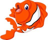Cute fish. Illustration of cute fish cartoon Royalty Free Stock Photography