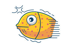 Cute Fish. Illustration. Isolated on white background Royalty Free Stock Images