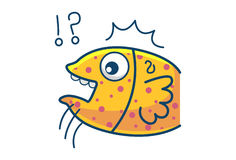 Cute Fish. Illustration. Isolated on white background Stock Photography