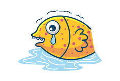 Cute Fish. Illustration. Isolated on white background Stock Photography