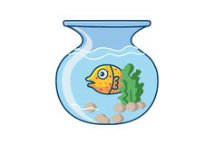 Cute Fish. Illustration. Isolated on white background Royalty Free Stock Photography