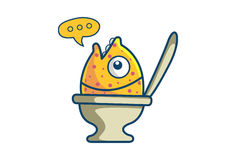 Cute Fish. Illustration. Isolated on white background Royalty Free Stock Image
