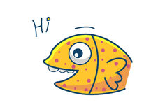 Cute Fish. Illustration. Isolated on white background Stock Image