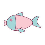 Cute fish isolated icon. Vector illustration design Royalty Free Stock Images