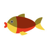 Cute fish isolated icon. Vector illustration design Stock Image