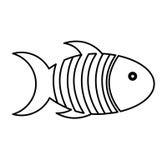 Cute fish mascot isolated icon. Illustration design Royalty Free Stock Photos