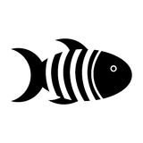 Cute fish mascot isolated icon. Illustration design Stock Images