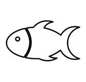 Cute fish mascot isolated icon. Illustration design Stock Photo