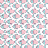 Cute fish pattern isolated icon. Vector illustration design Stock Image