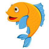 Cute fish smile. Of vector Stock Images