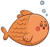 Cute Fish Swimming Stock Image