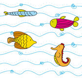 Cute fish vector Royalty Free Stock Image