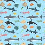 Cute fish vector illustration seamless pattern Stock Photo