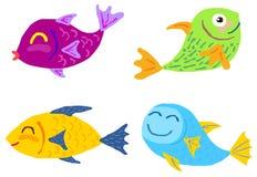Cute fish vector set Stock Image