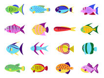 Cute fish vector set Stock Image