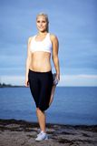 Cute fitness girl Royalty Free Stock Photo