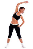 Cute fitness girl stretching her body Stock Photos