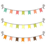 Cute flags clipart for baby shower set isolated on white Stock Photo