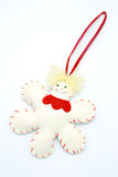 Cute flake ornament. On white background Royalty Free Stock Image