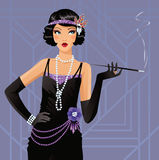 Cute flapper girl Stock Photo