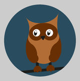 Cute flat owl. Cute owl in flat style Royalty Free Stock Photos