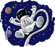 Cute floating Astronaut Royalty Free Stock Images