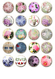 Cute floral and abstract tags Stock Images