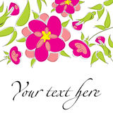 Cute floral background. With bright colors Royalty Free Stock Photography