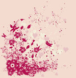 Cute floral background Royalty Free Stock Images