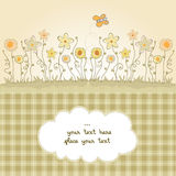 Cute floral background Stock Image
