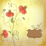 Cute floral background Stock Photo