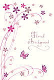 Cute Floral Background. Modern Vector Card. For different Events Royalty Free Stock Photos