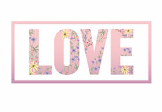 Cute floral background. Printable wall art with flowers. Stock Photos