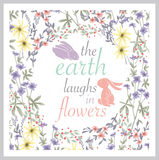 Cute Floral Background. Printable Wall Art With Flowers. Vector Stock Photo