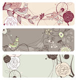 Cute  floral banners Royalty Free Stock Photo