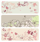 Cute  floral banners Stock Photo