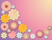 Cute floral border Royalty Free Stock Photo