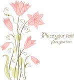 Cute floral card. Vector illustration Royalty Free Stock Photos