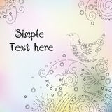 Cute floral composition with space for text. Spring vector background Royalty Free Stock Photo