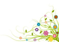 Cute Floral Corner Royalty Free Stock Image