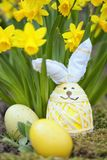 Cute floral decoration with Easter egg Royalty Free Stock Photos