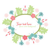 Cute floral design background Stock Photo