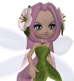 Cute Floral Fairy Stock Image