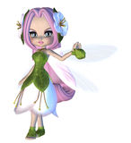 Cute Floral Fairy Stock Photo