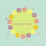 Cute floral frame Stock Image