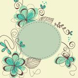 Cute floral frame Royalty Free Stock Image